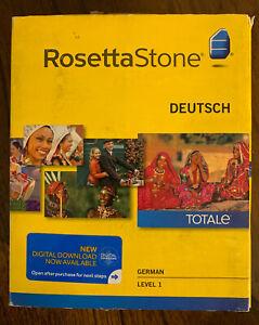 Rosetta Stone - German/Deutsch - Level 1 Version 4 Brand New - Free Shipping