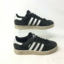Adidas Campus 2.0 Sneakers Casual Shoes Low Top Lace Up Suede Black Mens 6.5