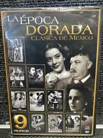 La Epoca Dorada Clasica Mexicana dvd  9 peliculas en 3 dvd's nuevas