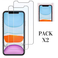 2x Verre Trempé Film Ecran Protection iPhone 12 12 PRO 11 11 PRO MAX XR XS MAX 8