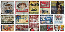 HO N SCALE WEATHERED BUILDING SIGN DECALS #20a FREE FLAG STICKER