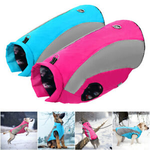 Waterproof Puffy Dog Clothes Winter Jacket Large Dogs Coat Vest Warm Thick Suit