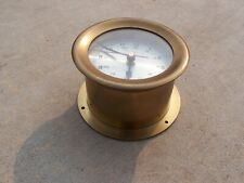 Bell Clock Co Ship's Clock Brass 5 inch Quartz Works