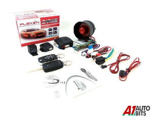 Remote Car Alarm Locking Immobilizer System Upgrade Kit Keyless Entry + 2 Fobs