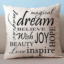 """Beige Dream Inspire 17"""" Square Cushion Cover Pillow Case New Home Decor Gift"""