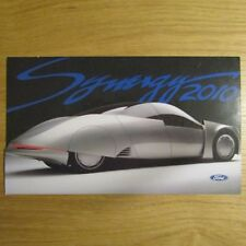 FORD Synergy 2010 Concept Car TESTO ORIGINALE INGLESE BROCHURE c.1996