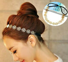 Bridal Wedding Hair Accessories Bridesmaid Gold Hair Band Floral Gold jewellery