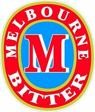Melbourne Bitter sticker 155 x 130 mm BUY 2 & Receive 3
