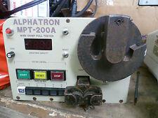 Alphatron mpt-250a FILO crimpare Pull TESTER AUTO Stripper CRIMPER RRP £ 2700