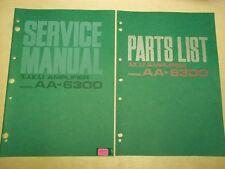 Vtg Akai Service/Repair Manual~AA-6300 Amp Amplifier~Original