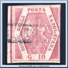 Antichi Stati Italiani 1858 Napoli 10 grana n. 10 Usato