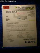 Sony Service Manual SLV SE220 SE420 SE620 SE720 SE727 SE820 SX720 SX727 (#4768)