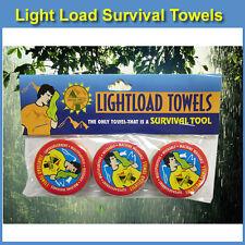 """Light Load Towels - 12"""" x 24"""" Survival Towel - Expandable - Survival Kit Size"""