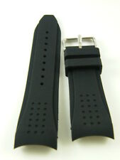 24mm Curved Lug Rubber Watch Band GT RALLY DOTTED Strap Fit TAG w/HQ Clasp