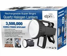 NEW 3.5 MILLION CANDLE POWER LED TORCH SPOTLIGHT HALOGEN FLASHLIGHT RECHARGEABLE