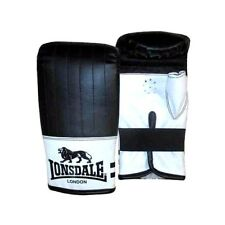 NEW LONSDALE CONTENDER MITTS BLACK / WHITE SIZE S/M  MMA FIGHT BOXING BAG GLOVES