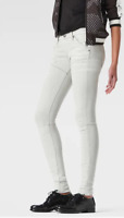 G-Star Raw 5620 Mid Waist Jeans White Painted Ladies Size UK W27 L34 *REF34-02