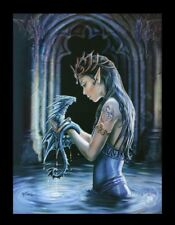 3d CUADRO CON DRAGÓN - Agua Dragon - Anne Stokes Fantasy FOTO LIENZO Póster