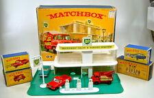 "Matchbox 1-75 Serie G-9 ""Service Station Set"" Gift-Set 1963, komplett"