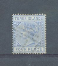 Turks Is 1881 4d crown CC sg.50 used