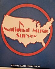 Radio Show: 9/3/88 NATIONAL MUSIC SURVEY 10/18/86 GENESIS, CYNDI LAUPER,BON JOVI