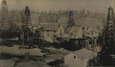 HISTORIC, OIL WELLS, LOS ANGELES CALIFORNIA. TONED SILVER PRINT.