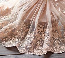 """17.7""""*1Y Freshcolor Alencon Lace Trim, Bridal Veil Lace Trim, Dress Vintage Lace"""