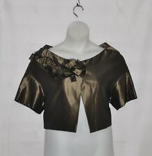 M by Marc Bouwer Silk Shrug With Ribbon Detail Size XS Bronze