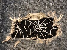 """Set of 2 Spider Web 4"""" x 4"""" Iron on Peek-A-Boo Jean Patches"""