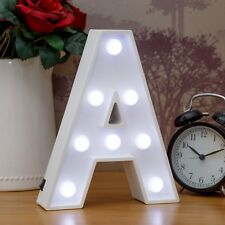 Light Up Letter A - White Marquee Letters 23cm LED Wooden Letter Lights Sign A-Z