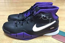 LAKERS KOBE BRYANT SIGNED NIKE ZOOM I SHOES UDA AUTOGRAPH PE UPPER DECK AUTO 1