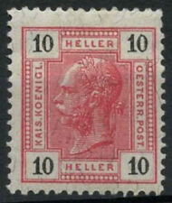 Austria 1899-1902 Sg # 112, 10h Carmine Mh p13x13.5 #a 91428