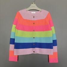 NEXT Girls 4-5 Yrs Rainbow Stripe Cotton Blend Cardigan VGC
