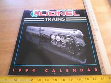 Lionel Trains 1994 unused Calendar engines on all 12 months HTF