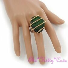 Green Statement Fine Rings