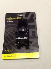 GT CNC Race Stem BMX Park Bike Handlebar Stem Mini micro 1 inch Threadless Black