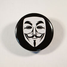 """ANONYMOUS V MASK PROTEST Badge/Button GIFT with METAL PIN ( Size is 1"""" / 25mm)"""