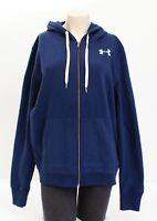 Under Armour Blue Favorite Fleece Full Zip Hooded Sweatshirt Hoodie Women's NWT