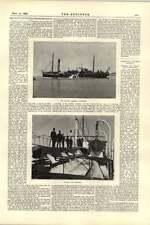 1892 Sable Pompe Hopper Dredger thyboron Cardiff NEW Water Works