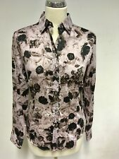 BNWT PAUL SMITH BLACK MAUVE FLORAL PRINT COTTON FITTED SHIRT SIZE 40 UK 10/12