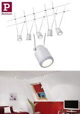 Paulmann LED Seilsystem TunLED 5x4W Chrom Matt-Weiß Schwenkbar UVP 89,95€
