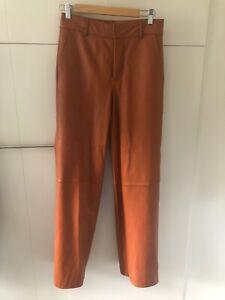 Zara Real Leather Pants Size XS AU8-10 US2-4