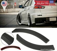 Pair Black Carbon Effect Evo 10 side Fender Flare Vent Cover  For  BMW AUDI