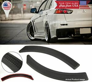 Pair Black Carbon Effect Evo 10 side Fender Flare Vent Cover  For  BMW AUDI
