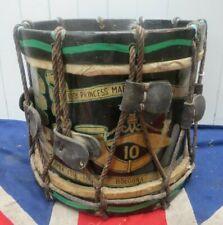 More details for antique vintage 10th princess margarets gurkha rifles regimental drum militaria
