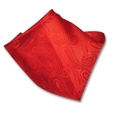Red Paisley Design Handkerchief Pocket Square Hanky Men's Handkerchiefs