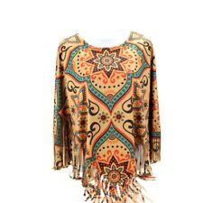 Montana West Western Ladies Fringe Hippy Fall Winter Poncho Aztec Shirt Top
