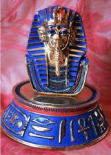 King Tut under glass dome, on ornate base, gilded, beautiful, limited edition