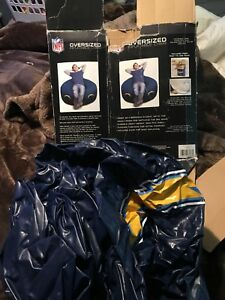 """LOS ANGELES CHARGERS 42""""x 42""""x 28"""" Oversized Inflatable CHAIR Without Pump"""