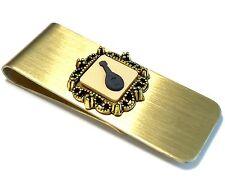 Genuine, Wedgwood Jasperware Cameo On Brushed Brass Money Clip